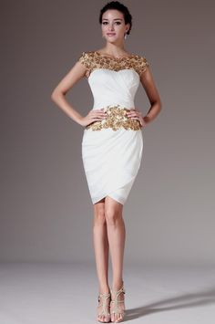 133387da94 eDressit 2014 New Golden Lace Top Sheath Knee-Length Formal Dress