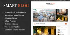 Smart Blog is a modern WordPress blog theme that is built with standards in mind. Featuring a clean, elegant and typography focused design, Smart Blog is guaranteed to bring a pleasant reading expe...