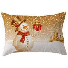 Christmas Pillow Case Waist Throw Cover Home Pillow Case Vintage - FREE SHIPPING