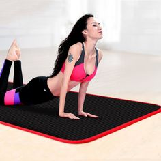 Thickened Non-slip Yoga Mats Sports Tear Resistant NBR Fitness Mats Sports Gym Pilates Pads With Yoga Mat Bag & Strap Pilates Mat, Yoga Mat Bag, Pilates Workout, Gym Workouts, Yoga Mats, Gym Mats, Sporting, Yoga Towel, Mat Exercises