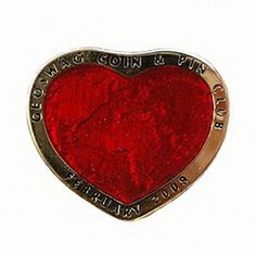 Geocaching / Geocoin lapel pin: GC&PC 2009-02 Red Heart