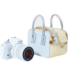 STELLA MCCARTNEY X CANON Linda bag and EOS camera