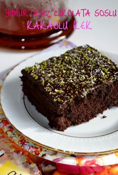 Easy Cake : Cocoa cake with chocolate sauce without eggs, Cocoa Cake, Chocolate Cake, Cacao Chocolate, Cake Recipe Using Buttermilk, Egg Free Cakes, Recipe Mix, Easy Cake Recipes, Baking, Deserts
