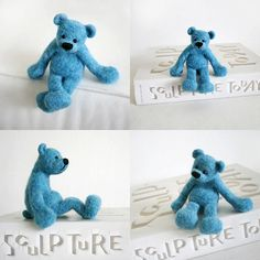 BLUEBERRY blue teddy by forestbluefactory