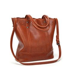 6ba6266668 Hollow Out Vintage luxury handbags women bags High Quality PU Leather Designer  Women Shoulder Bag Large Tote Messenger Bags Work