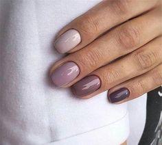 Pin by Lisa Firle on Nageldesign - Nail Art - Nagellack - Nail Polish - Nailart - Nails Purple Ombre Nails, Gradient Nails, Pink Nails, Gel Nails, Acrylic Nails, Coffin Nails, Shellac Manicure, Nail Manicure, Fall Nail Art Designs