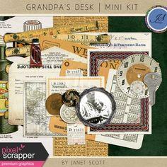 Grandpa's Desk - January 2016 Blog Train Mini Kit