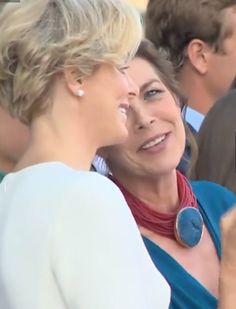 Princess Charlene of Monaco and Princess Caroline                                                                                                                                                                                 More