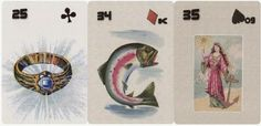 A Little Lenormand Wisdom for Wednesday: RING + FISH + WOMAN (Mystique d'époque Petit Lenormand). If you are seeking a bank loan or another type of loan/contract, things look favorable for that to go through. Otherwise, things look good in money matters, bills are getting paid, and money is being handled well overall. Learning Cards, Money Matters, Wednesday, Wisdom, Fish, Type, Woman, Ichthys