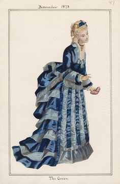Casey Fashion Plates Detail | Los Angeles Public Library The Queen Date:  Monday, December 1, 1873