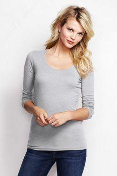 Langarm-Shirt aus Baumwoll-Viskose-Mix für Damen