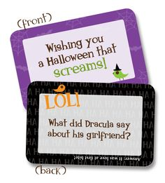 Awesome and fun these little notes from Lunchbox Love for #halloween are a great treat with or without candy and perfect in your #child's #lunchbox or Halloween party bags #kids #lunchboxlove #spooky