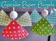 Cupcake Paper Angels by Christianity Cove