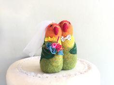 Love birds wedding cake topper love birds cake topper lovebird