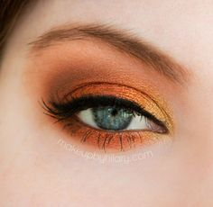 Copper Lights – Makeup Geek Idea Gallery - I love orange eye makeup looks. Love the way this is blended.