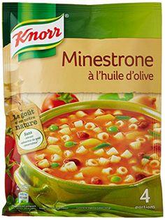 Knorr Soupe Minestrone à L'Huile d'Olive pour 4 personnes 104 g – Lot de 8