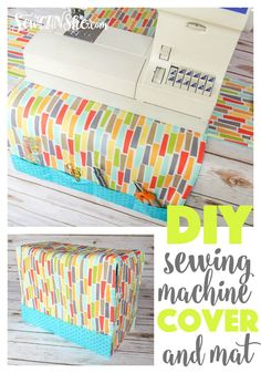 Easy Peasy Sewing Machine Cover and Mat {free sewing pattern} — SewCanShe Sewing Hacks, Sewing Tutorials, Sewing Tips, Tutorial Sewing, Diy Couture, Leftover Fabric, Love Sewing, Sewing Projects For Beginners, Learn To Sew