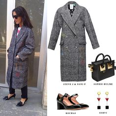 Our Natuka Karkashadze wears plaid coat from @stevejandyonip Shop at N-DUO-CONCEPT.COM get yours and style it with other stylish pieces Shop online: http://n-duo-concept.com/fb/styleset37