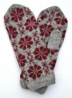 Mittens Pattern, Knit Mittens, Knitted Gloves, Knitting Socks, Knitting Stitches, Knitting Patterns Free, Free Knitting, Fair Isle Pattern, Fair Isle Knitting