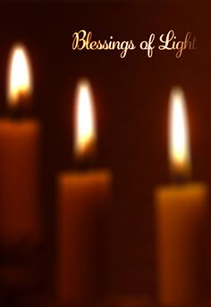 """blessings of light"" printable card. Customize, add text and photos. print for free! #Hanukkah #card"