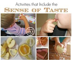 Sense of taste activities for preschoolers from Teaching 2 and 3 Year Olds
