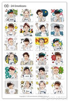 EXO Emoticons !