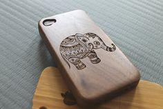 Walnut wood iphone 4 case iphone 4s case from SeeroseKim on Etsy