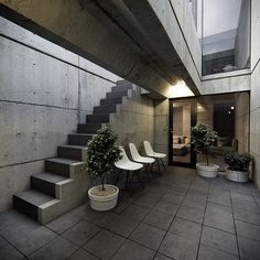 Azuma House in Sumiyoshi, also known as Row House, was one of the first works of self-taught architect, Tadao Ando. He divided in three a space devoted to daily Tadao Ando, Japanese Architecture, Sustainable Architecture, Architecture Details, Ancient Architecture, Landscape Architecture, Casa Azuma, Koshino House, Asian House
