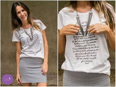 Um look no clássico preto e branco mas como toda modernidade da t-shirt, saia bandage e acessórios! #vemprazas