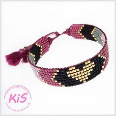 Loom Bracelet Patterns, Bead Loom Bracelets, Bead Loom Patterns, Bracelet Crafts, Beaded Jewelry Patterns, Ankle Bracelets, Diy Jewelry Rings, Bead Jewellery, Pulseras Kandi