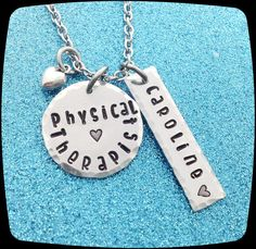 DPT, PT, PTA, Physical therapist Gift, pt jewelry, Physical Therapy Staff, Rehab Office Professional Necklace, Gift, Graduation