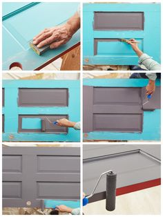 How to paint an interior door - practical tips and over 100 inspiring ideas The big trends in interior design have already been unveiled. On the program: the colorful entrance doors that are true decorative elements. Home Decor Painted Trays, Painted Doors, Honeycomb Tile, Basement Painting, World Map Wallpaper, Yellow Doors, Interior Door, Entrance Doors, Baseboards