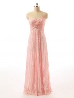 Full Length Sweetheart Empire Lace Bridesmaid Dress