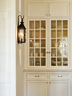 Things We Love: Kitchen Sconces NOTE TO SELF:  PANTRY SHELVES ALTERNATE VIEW