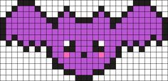 Kawaii Bat Perler Bead Pattern / Bead Sprite