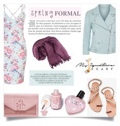 """spring formal"" by kriz-nambikatt on Polyvore featuring Rebecca Minkoff, Karl Lagerfeld, Elina Linardaki, Sugarpill, Victoria's Secret, scarf, accessories and springfashion"