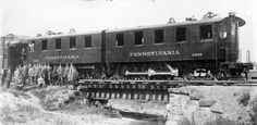 "Pennsylvania Railroad Electric Locomotive DD1. Steam engines pulling passenger trains bound for Penn Station in New York were cut from trains and replaced with these electric locomotives to run underground into the city. The location of this transfer was called ""The Manhattan Transfer""."
