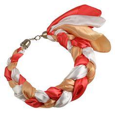 Šátek-náhrdelník Florina 299flo002-11.29 - oranžový - Bijoux Me! 💍 Originální česká bižuterie a šperky. Eshop i kamenná prodejna v Praze ✓