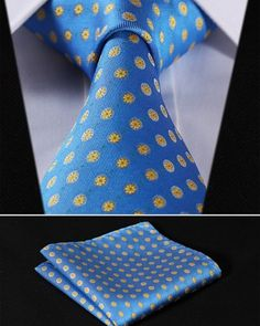 Cheap handkerchief set, Buy Quality mens ties directly from China square tie Suppliers: Party Wedding Classic Pocket Square Tie Blue Yellow Floral Silk Woven Men Tie Necktie Handkerchief Set Mens Suit Accessories, Men's Accessories, Tie And Pocket Square, Pocket Squares, Mens Attire, Tie Shoes, Jacquard Weave, Suit And Tie, Silk Ties