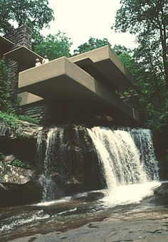 Images of Edgar J. Kaufmann House, (Fallingwater) by Frank Lloyd Wright.