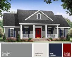 House exterior paint colors grey gray 59 Ideas for 2019 Style At Home, Country Style House Plans, House Paint Exterior, Exterior House Colors, Gray Exterior, Gray Siding, Exterior Paint Ideas, Outdoor House Colors, Exterior Design
