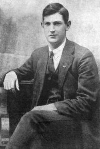 Collins soon after his release from prison following the 1916 Rising.
