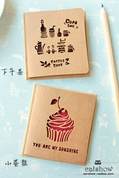 cute cut out cards