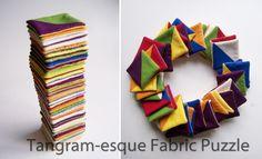Tutorial: Tangram-esque Fabric Puzzle   Beauty All Around