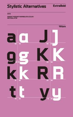Metral - Typeface by Jonathan Hill, via Behance