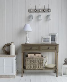 Exceptional Newport Cottage French Grey Console Table For Country Cottage Hall Furniture