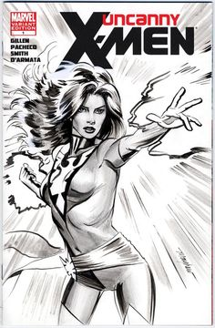 Uncanny X-Men blank cover dressed up with Mike Mayhew's Phoenix!