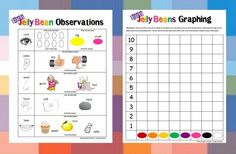 Jelly Bean Observations and Graphing -  Pinned by @PediaStaff – Please Visit http://ht.ly/63sNt for all our pediatric therapy pins