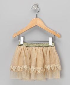 Save Now on this Gold Lace Skirt - Infant & Toddler by Designer Kidz on #zulily today!