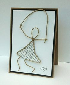 Papier+draad =kaart                                                                                                                                                                                 Mehr Hobbies And Crafts, Diy And Crafts, Old Book Art, Wire Art Sculpture, Book Page Crafts, Fun Projects For Kids, Hand Painted Signs, Wire Crafts, Handmade Birthday Cards